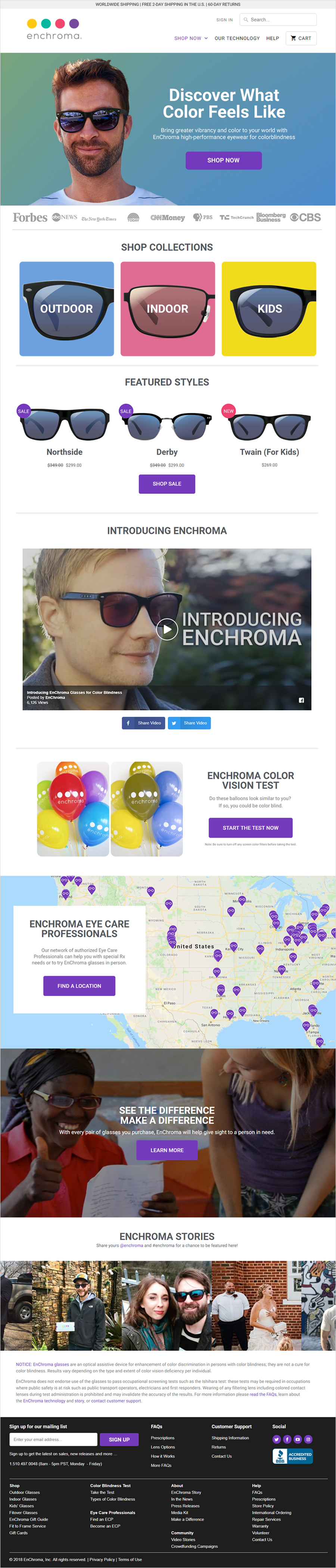 EnChroma Home Page
