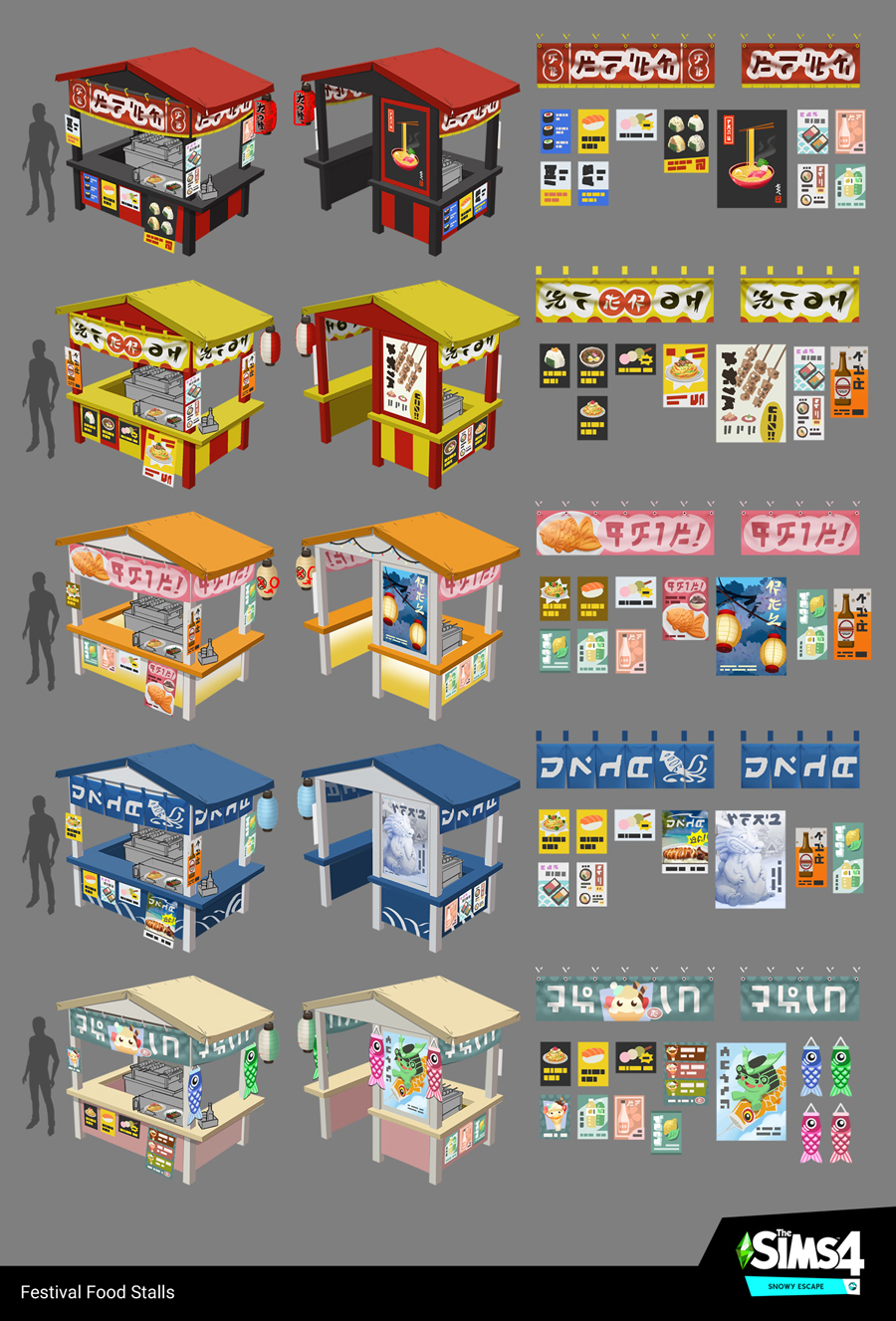 Snow Escape Food Stalls