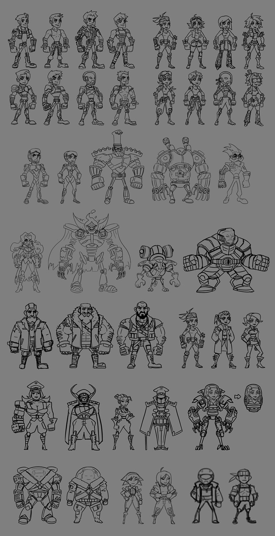 MechaNauts Characters
