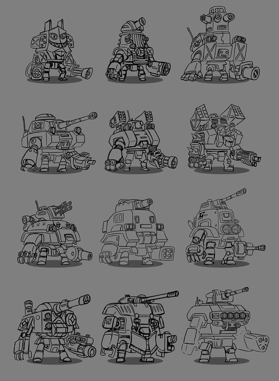 MechaNauts Robot Concepts 1