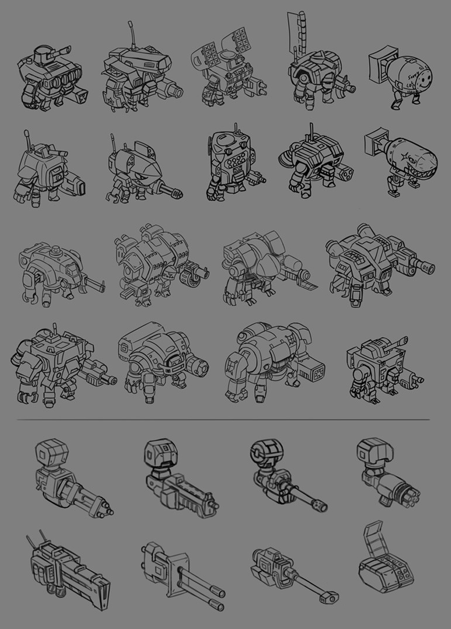 MechaNauts Robot Concepts Isometric